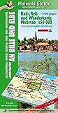 Sachsenwald = Rad-, Reit- u. Wanderkarte - Sachsenwald, Hohes Elbufer, Vier- und Marschlande Landschaften an Bille und Elbe: Maßstab 1:50.000 - GPS ... - Maßstab 1:50.000 - GPS geeignet)