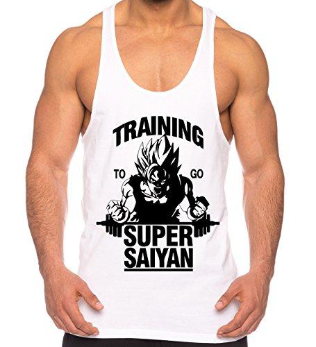gym aesthetics. Goku Super Saiyan de los Hombres Camisa del músculo One  Goku Dragon Master Son Ball Vegeta bc51d62f726