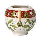 Villeroy & Boch Christmas Light Teelichthalter Ball Weihnachten, Porzellan, Weiß, 11.5x 10.5x 11.7cm