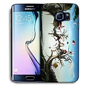 Snoogg Red Roof Small Houses Printed Protective Phone Back Case Cover For Samsung Galaxy S6 EDGE / S IIIIII