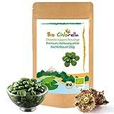 Chlorella Presslinge Bio 200g - Jetzt Laborgeprüft - 500 natürliche Chlorella Vulgaris Tabletten ohne Zusätze, Bio Algen In Rohkostqualität -2 Monatspackung