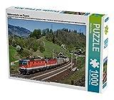 Güterverkehr am Tauern 1000 Teile Puzzle quer: Die 1144.202 und 1144.227 haben mit dem DG 54503 aus Wien soeben den Birgl-Tunnel bei Loifarn verlassen (CALVENDO Mobilitaet)