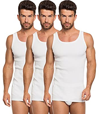 Timone Mens Vest Thick Ribbed 3 Pack PLF2X2