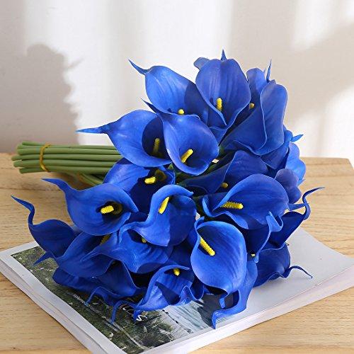 Justoyou Bouquet De Fleurs Artificielles En Latex 20 Lys Calla