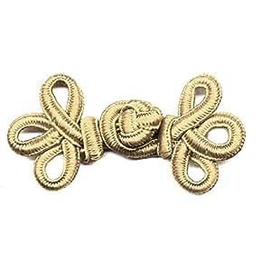 Petit brandebourg arabesque beige Coloris - BEIGE - N013982XT/C22 - La Mercerie Chic - Customisation & Bijoux