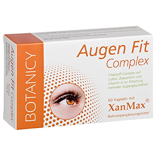 AUGEN FIT Complex - für Augen, Sehkraft und Netzhaut* - einzigartiger, natürlicher Nährstoffkomplex mit patentiertem XanMax® - hochdosiert - auch für Brillenträger - 60 Kapseln (Monatspack)