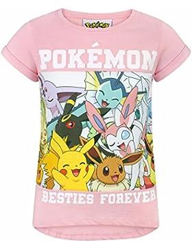 Pokèmon Camiseta de Manga Corta Oficial Modelo Besties Forever Para Niñas