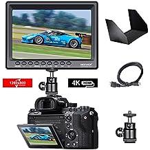 Neewer F100 da 7 Pollici Supporta 4k Input 1280x800 IPS Monitore da campo HDMI Video per DSLR Mirrorless Fotocamera SONY A7S II A6500 Panasonic GH5 Canon 5D Mark IV ed altri (Batteria non inclusa)