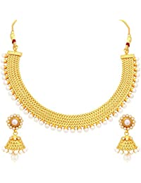 Sukkhi Wedding Collection Jewellery Set for Women (Golden)(2719NGLDPP1250)