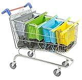 UPP Trolley bags I 4 Sacs de courses I Sac de course pour chariot I Sac cabas pliable couleur pastel