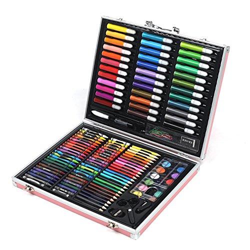 Liergou Aquarell Zeichnung Bleistiftsatz 150 stücke Aluminium Box Kinder Pinsel Set geschenkbox aquarell Stift zeichenstift ölgemälde bar malerei Set schreibwaren -