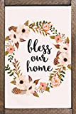 "Sketchfab ""Bless Our Home"" Wall Sign (Wooden, 30 cm x 20 cm)"