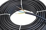 Starkstromkabel 3x1,5 mm², 25m 3 adriges Erdkabel in schwarz, NYY-J, PVC Mantel, Stromkabel für...