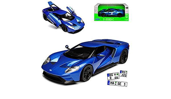Ford GT Coupe Blau Ab 2017 1//24 Welly Modell Auto mit oder ohne individiuellem..