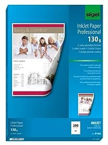 Sigel IP682 Papier jet d'encre pour Impression recto-verso Format A4 200 feuilles 130 g Blanc
