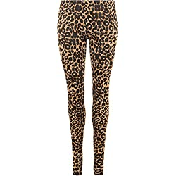 LessThanTenQuid - Leggings - para Mujer marrón Brown Leopard Print