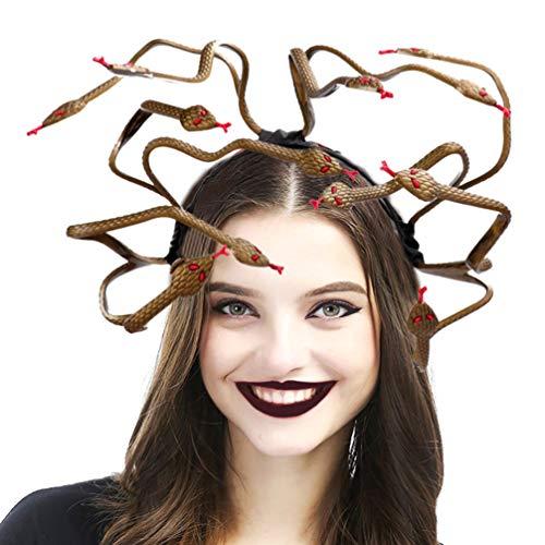 Kostüm Medusa Kopfschmuck - Holibanna Medusa Cosplay Kostüm Stirnband Halloween Kopfschmuck Anzieh Kopfschmuck für Karneval Karneval Maskerade Partei liefert