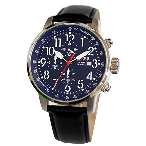 Nautec No Limit men's Quartz Watch Analogue Display and Leather Strap AIRTR-QZ-LTST-BL