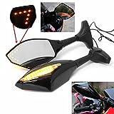 Lovinn Paar Motorrad LED-Arrow Blinker Rückspiegel für Honda/Suzuki/Kawasaki/Yamaha