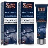 2 X NO HAIR CREW Premium Ontharingscrème Voor Mannen - Zachte Ontharing Voor de Intieme Delen (2 x 100 ml)