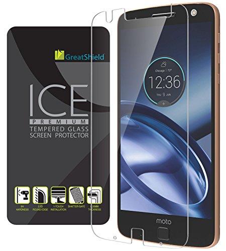 GreatShield ICE 0.20mm TempeRot Glass schutzfolie für Motorola Moto Z - 1 pack (Moto E Greatshield)