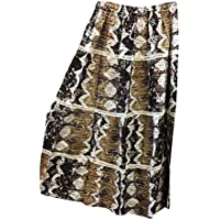 Mogul Interior Womens Gothic Skirt Brown Printed Vintage College Boho Long Skirt