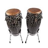 NUYI-2 Professionelles Musikinstrument Conga Drum Konka Drum 10 + 11 Zoll Musik Tambourine Outdoor-Performance