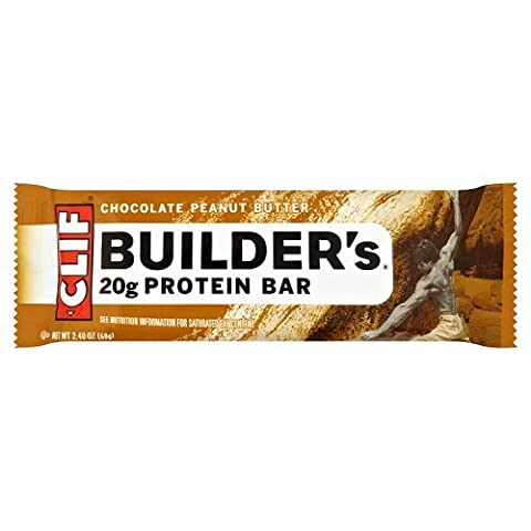 Clif Bar Builders Chocolate Peanut Flavour Protein Bar,