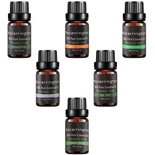 Ätherische Öle Set für Diffuser - 100% Reine Natur Duftöle Aromatherapie Öl Geschenk Set 6x10ml Ätherisches Öl (Lavendel, Zitronengras, süße Orange, Eukalyptus, Pfefferminze, Tee Baum) (Ätherisches Öl-geschenk-set)