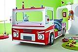 demeyere 3224 Feuerwehrbett SOS 112, MDF, 90 x 190-200 cm, Rot/weiß