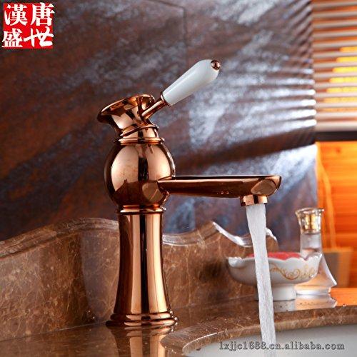 Traditionelles Französisch Bauernhaus (JIAHENGY Waschbeckenmischer Wasserhahn Mischbatterie Armatur Im europäischen Stil Retro Kunst Traditionelle Kreuz französischen Bauernhaus Classic Rose Gold WC Küche Badezimmer)