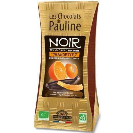 Les 2 Ballotins Orangettes lamelles d'écorces d'orange enrobées de chocolat noir 250g (2 x 125 g)