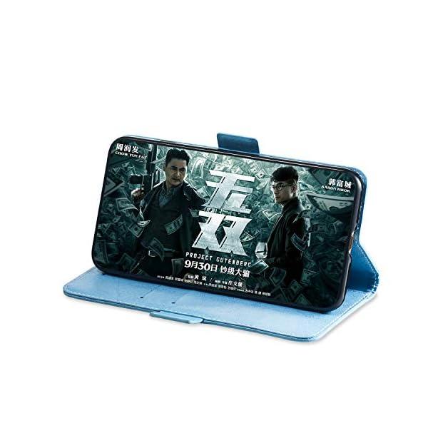SEYCPHE Funda Samsung Galaxy A10 Carcasa Libro de Cuero Ultra Delgado Billetera Cartera [Ranuras de Tarjeta,Soporte… 4