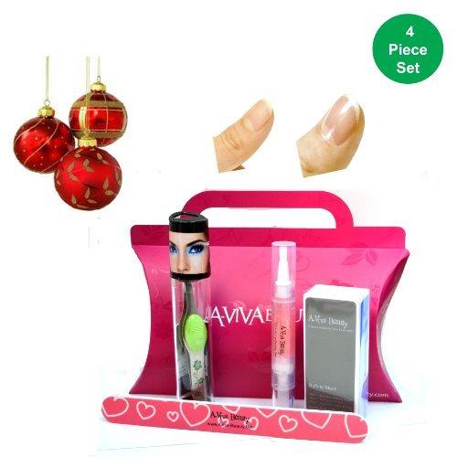 Trend Tweeze Lighted Pince à épiler en vert Floral + Aviva à ongles kit (Ensemble d'éléments de 4)