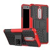 Wishcover Nokia 5 Coque 2 en 1 Combo Armure Support TPU Silicone + Plastique Protection Étui,Hybride Etui Robuste Protection de Double Couche d'Armure Lourde Case avec Béquille