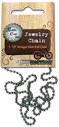 Unbekannt Flasche Gap INC 2mm Kugel Kette Halskette, Antik Silber (Cap Halskette Bottle)