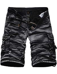 Pantalones Cortos para Hombres Camuflaje Carga De Cargo Cortos Pantalones  Ropa Festiva De Verano Camo Hip Hop Pantalones Cortos Multi… 15b481fe15d