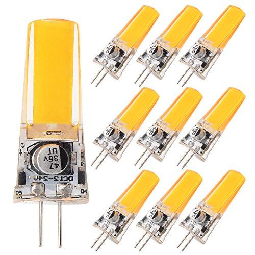 GRV G4 COB 2508 4 W AC DC 12V 24 V Schrank LED Silikon Licht Kristall 35 W Leuchtmittel Halogen Track Ersatz, warmweiß, 12.00 volts -