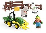 TOMY John Deere Mein erster Bauernhof Spielset - Bauernhofset zum Spielen für drinnen und draußen - für Kleinkinder ab 12 Monate
