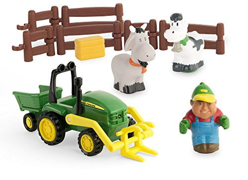 Draußen, Spielzeug Kleinkind, (TOMY John Deere Mein erster Bauernhof Spielset - Bauernhofset zum Spielen für drinnen und draußen - für Kleinkinder ab 12 Monate)