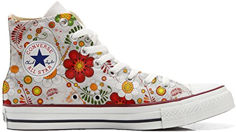 Converse All Star Low Customized personalisierte Schuhe (Handwerk Schuhe) Slim leopard