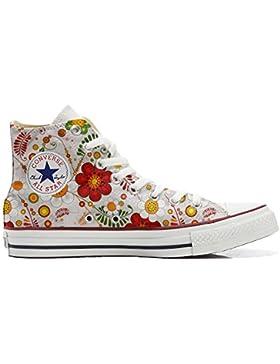 Converse All Star zapatos personalizadas Unisex (Producto Artesano) Floral Paisley
