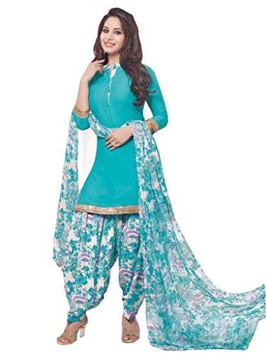 AASRI Women Synthetic Crepe Printed Salwar Suit, Un-Stitched Synthetic Salwar Suits for...