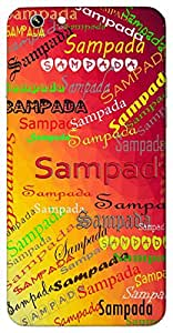 Sampada (Blessing) Name & Sign Printed All over customize & Personalized!! Protective back cover for your Smart Phone : Micromax Canvas Canvas Hue-2
