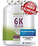 PROTEINPULVER Neutral 1kg (TESTSIEGER Eiweißpulver 2019) - 85% Eiweiß - Nutri-Plus Shape & Shake  ohne Süßstoff & Laktose - auch ideal zum Backen - Hergestellt in Deutschland