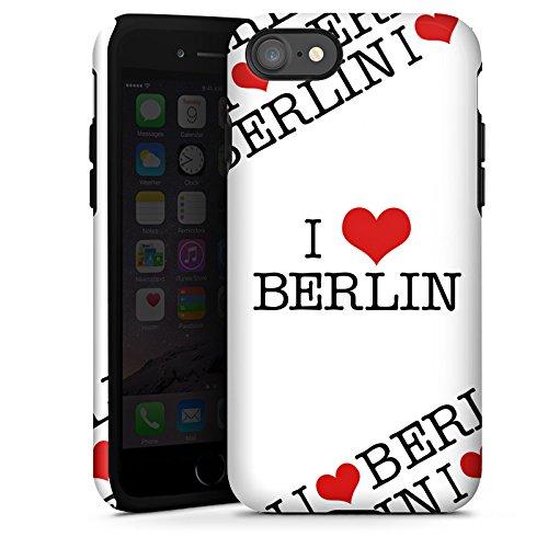 Apple iPhone X Silikon Hülle Case Schutzhülle Berlin Love Statement Tough Case glänzend