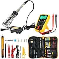 ZEEPIN ( 2018 Upgraded ) Soldering Iron Kit , Welding Kit for Various Repair - Digital Multimeter , 60W Adjustable Temperature Soldering Iron , Screwdriver , Soldering Station