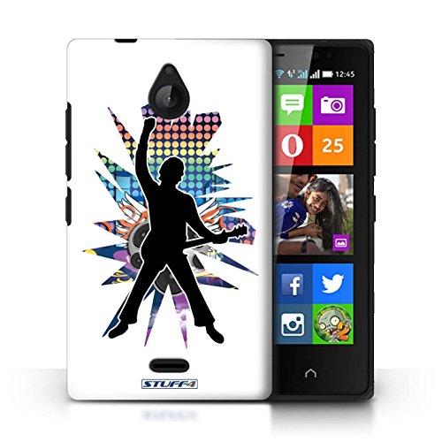 Kobalt® Imprimé Etui / Coque pour Nokia X2 Dual Sim / Atteindre Blanc conception / Série Rock Star Pose Windmill Blanc
