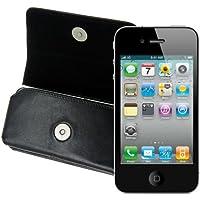 MTT Original Quer-Tasche mit Gürtelschlaufe für Apple iPhone 4/4S schwarz