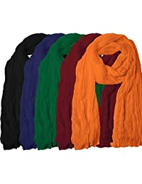 Women's Cotton Dupatta (Brand Factory Outlet-Black, Blue, Green, Maroon And Orange) 2.25 Mtr